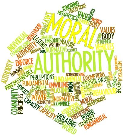 valores morales: Nube palabra abstracta por autoridad moral con las etiquetas y términos relacionados