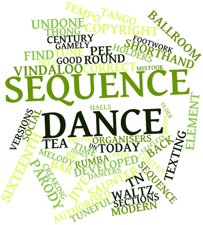 tuneful: Abstract word cloud for Sequence dance with related tags and terms