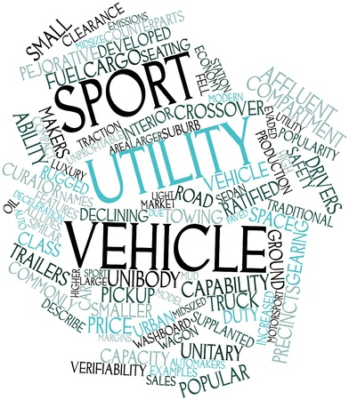 counterparts: Abstract word cloud for Sport utility vehicle with related tags and terms