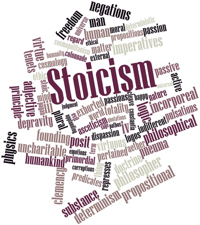 Abstract word cloud for Stoicism with related tags and terms Stock Photo - 16632511