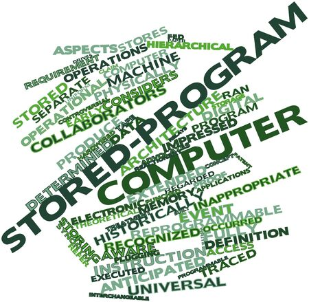 Abstract word cloud for Stored-program computer with related tags and terms