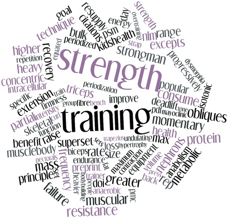 intracellular: Abstract word cloud for Strength training with related tags and terms