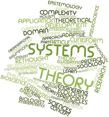 Nube palabra abstracta para La teoría de sistemas con etiquetas y términos relacionados