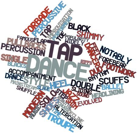 pies bailando: Nube palabra abstracta para claqu� con las etiquetas y t�rminos relacionados