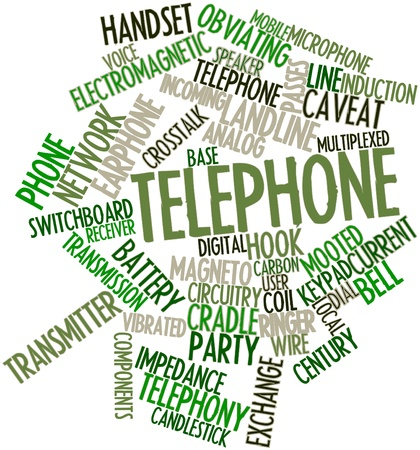 Abstract word cloud for Telephone with related tags and terms photo