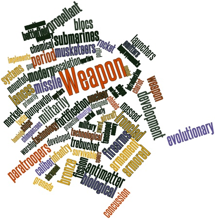 propellant: Abstract word cloud for Weapon with related tags and terms
