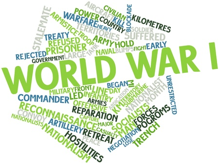 neutrality: Abstract word cloud for World War I with related tags and terms