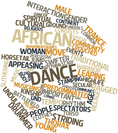 african solidarity: Abstract word cloud for African dance with related tags and terms