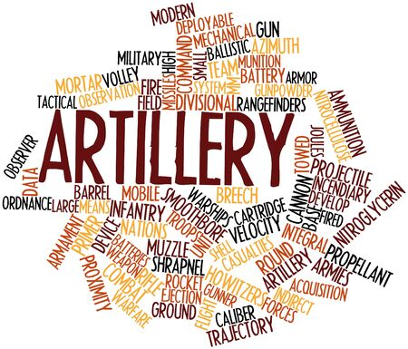 Abstract word cloud for Artillery with related tags and terms Stock Photo