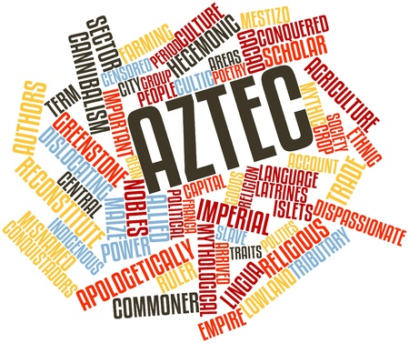 Abstract word cloud for Aztec with related tags and terms photo