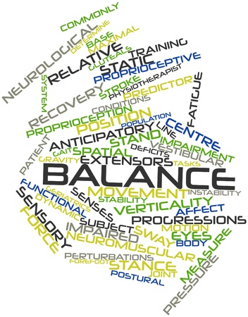 biomechanics: Abstract word cloud for Balance with related tags and terms Stock Photo