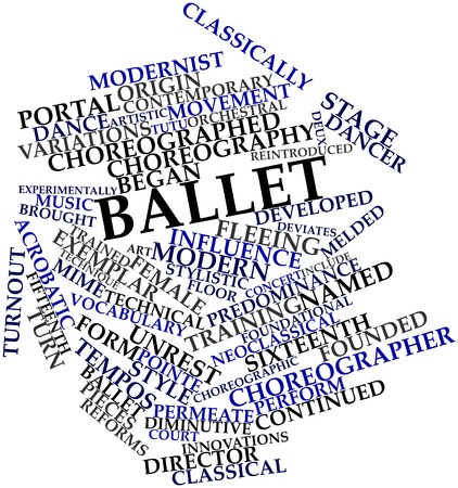 distinctly: Abstract word cloud for Ballet with related tags and terms