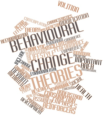 effective: Abstract word cloud for Behavioural change theories with related tags and terms