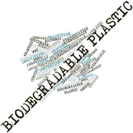tons: Abstract word cloud for Biodegradable plastic with related tags and terms Stock Photo