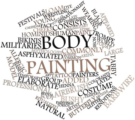 Abstract word cloud for Body painting with related tags and terms Stock Photo - 16678455