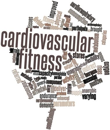 sustained: Abstract word cloud for Cardiovascular fitness with related tags and terms Stock Photo