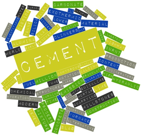 tonne: Abstract word cloud for Cement with related tags and terms Stock Photo