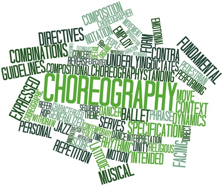 improvised: Abstract word cloud for Choreography with related tags and terms Stock Photo