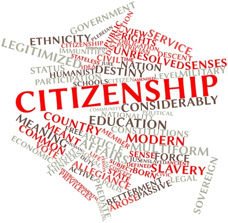 Abstract word cloud for Citizenship with related tags and terms Stock Photo - 16678431