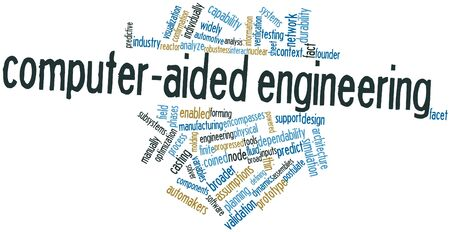 subsystems: Abstract word cloud for Computer-aided engineering with related tags and terms