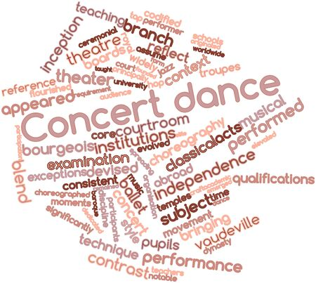 emerged: Abstract word cloud for Concert dance with related tags and terms Stock Photo