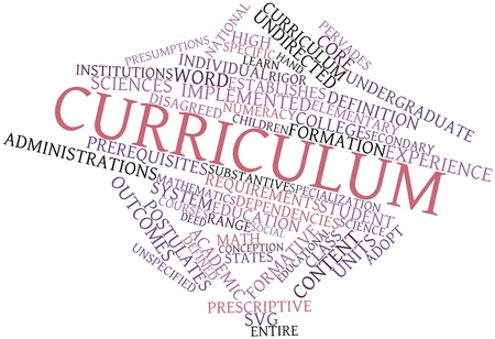 svg: Abstract word cloud for Curriculum with related tags and terms