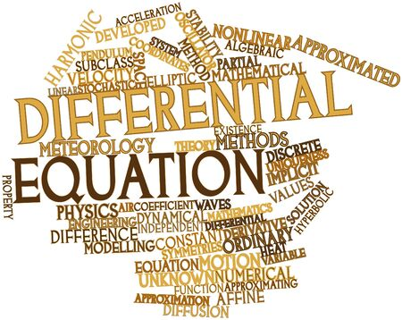 economic theory: Abstract word cloud for Differential equation with related tags and terms