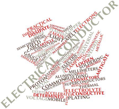 fiberglass: Nube palabra abstracta para conductor eléctrico con etiquetas y términos relacionados Foto de archivo