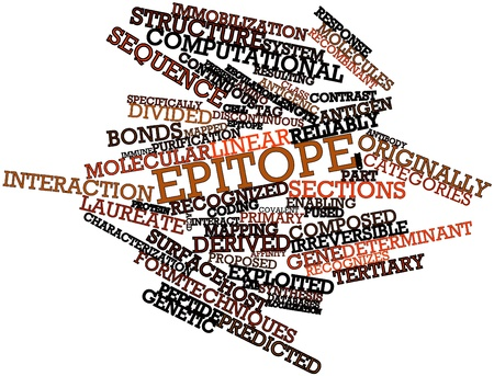 discontinuous: Abstract word cloud for Epitope with related tags and terms