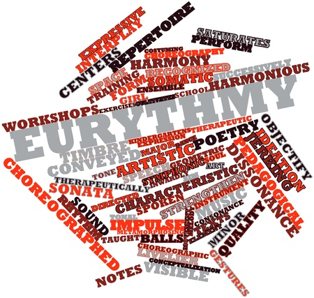 implicit: Abstract word cloud for Eurythmy with related tags and terms