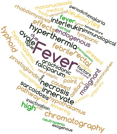 macrophage: Abstract word cloud for Fever with related tags and terms