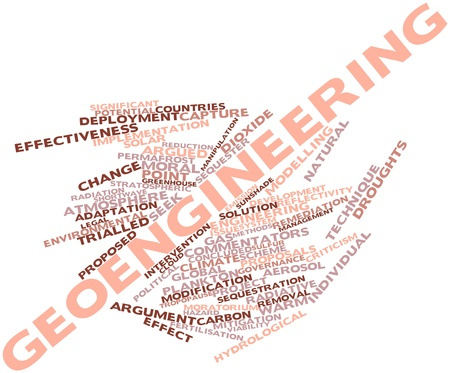 proposed: Abstract word cloud for Geoengineering with related tags and terms