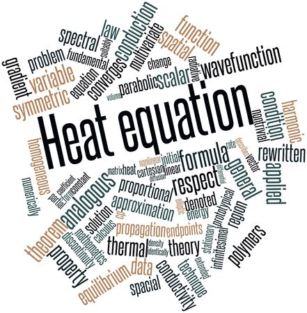 radiative: Abstract word cloud for Heat equation with related tags and terms