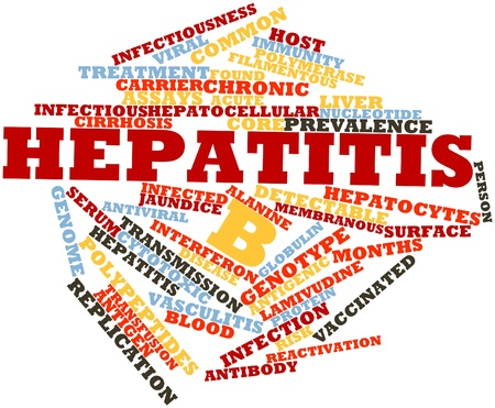 jaundice: Abstract word cloud for Hepatitis B with related tags and terms
