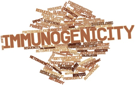Abstract word cloud for Immunogenicity with related tags and terms Stock Photo - 16678319