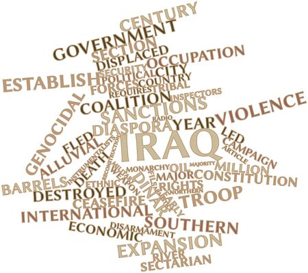 hostilities: Abstract word cloud for Iraq with related tags and terms