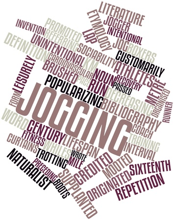 credited: Abstract word cloud for Jogging with related tags and terms