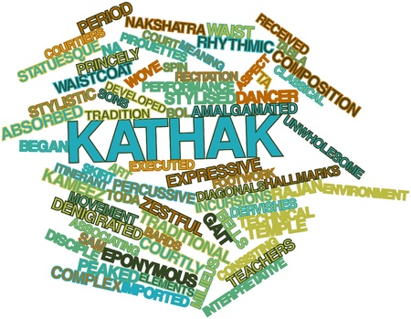 diagonals: Abstract word cloud for Kathak with related tags and terms Stock Photo
