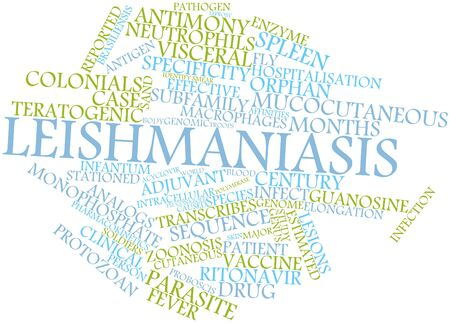macrophages: Abstract word cloud for Leishmaniasis with related tags and terms Stock Photo
