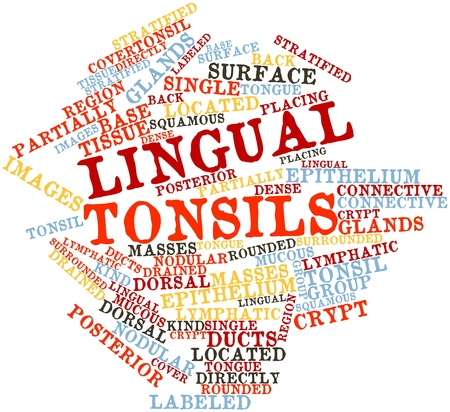 lingual: Abstract word cloud for Lingual tonsils with related tags and terms