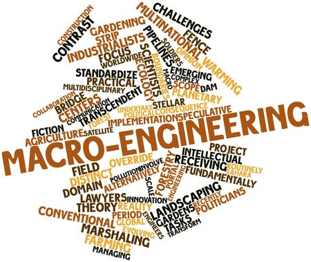centers: Abstract word cloud for Macro-engineering with related tags and terms