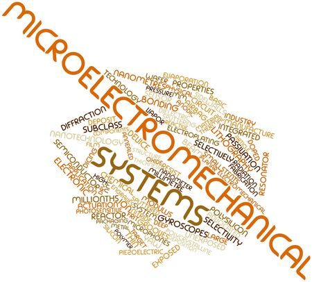 Abstract word cloud for Microelectromechanical systems with related tags and terms photo