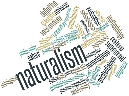 Abstract word cloud for Naturalism with related tags and terms photo