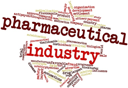 accusations: Abstract word cloud for Pharmaceutical industry with related tags and terms
