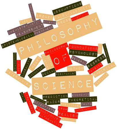 falsification: Abstract word cloud for Philosophy of science with related tags and terms
