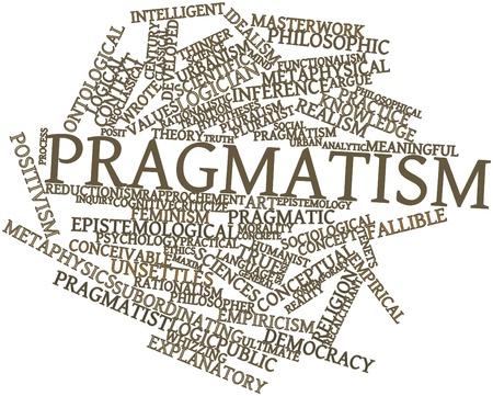 hypotheses: Abstract word cloud for Pragmatism with related tags and terms Stock Photo
