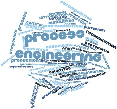 superstructure: Abstract word cloud for Process engineering with related tags and terms