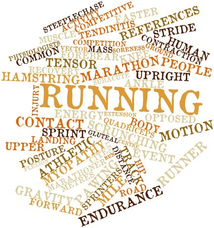 the energy center: Abstract word cloud for Running with related tags and terms