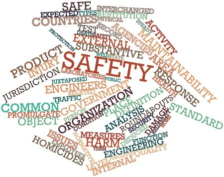 deficits: Abstract word cloud for Safety with related tags and terms Stock Photo