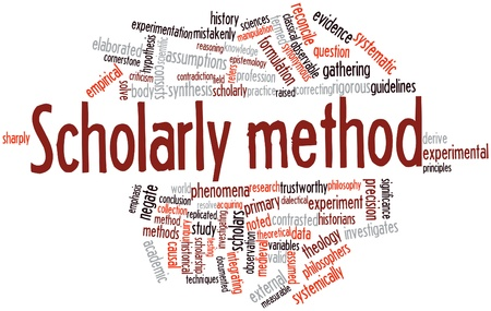 Abstract word cloud for Scholarly method with related tags and terms Stock Photo - 16678312